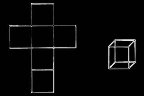 Image result for cross cube unfolded